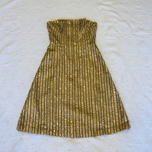 EUC**TRACY REESE**Gold STUNNING Party Dress